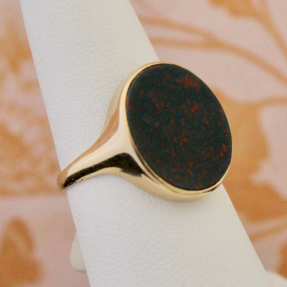 Striking Antique Bloodstone Ring