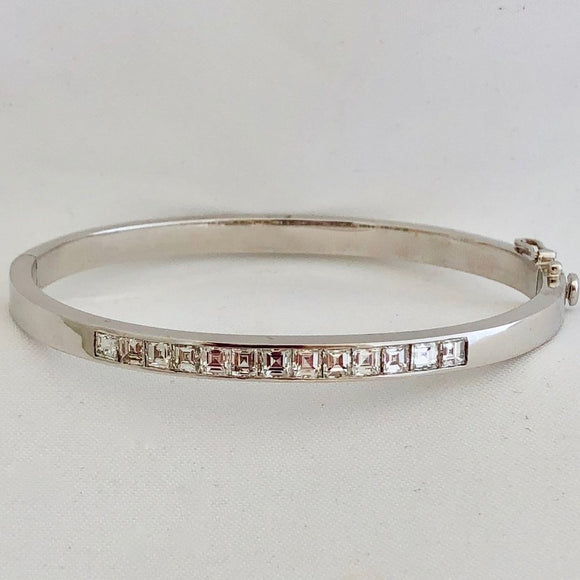 Asscher Cut Diamond Bangle