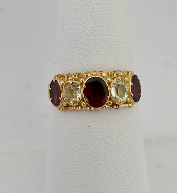 Antique Garnet and Spinel Ring