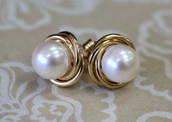 Pretty ~ 14K Cultured Pearl Earrings