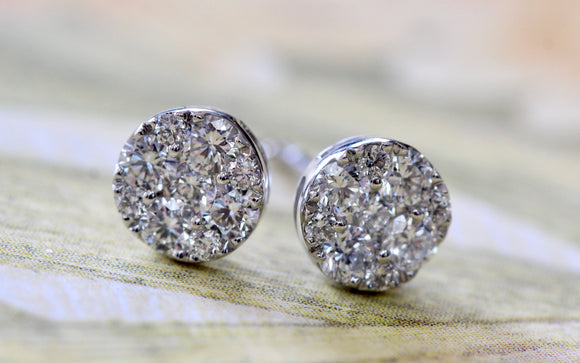 Diamond Stud Earrings ~ Classic