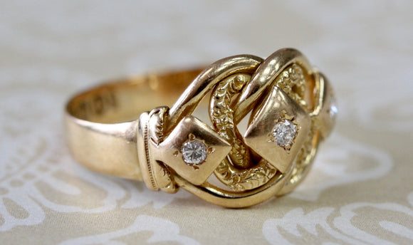 Victorian Gold Ring with Diamond accents