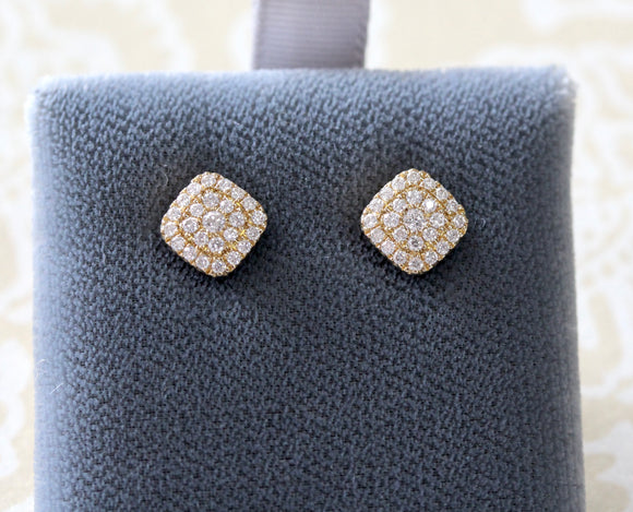 Diamond Cluster Stud Earrings ~ Lovely