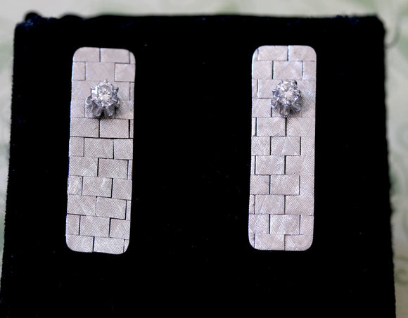 Contemporary ~ Diamond Earrings
