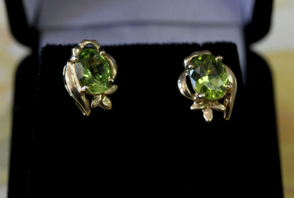 Pretty ~ Peridot Stud Earrings