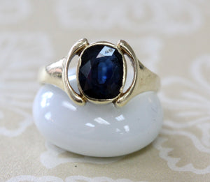 Oval Shaped Sapphire Ring ~ Classic