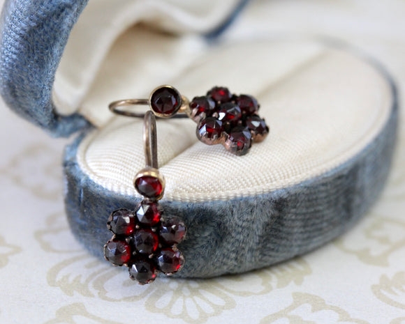 Antique ~ Garnet Earrings