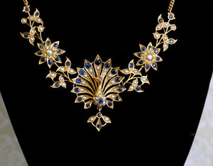 FASCINATING ~ Vintage Peacock Necklace