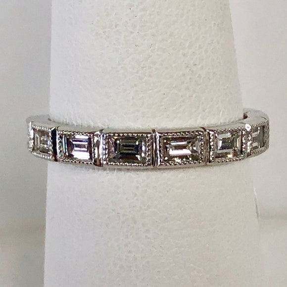 Baguette Diamond Half Band