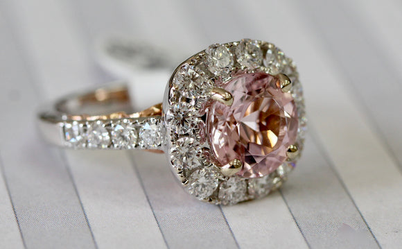 FABULOUS ~ Morganite & Diamond Ring