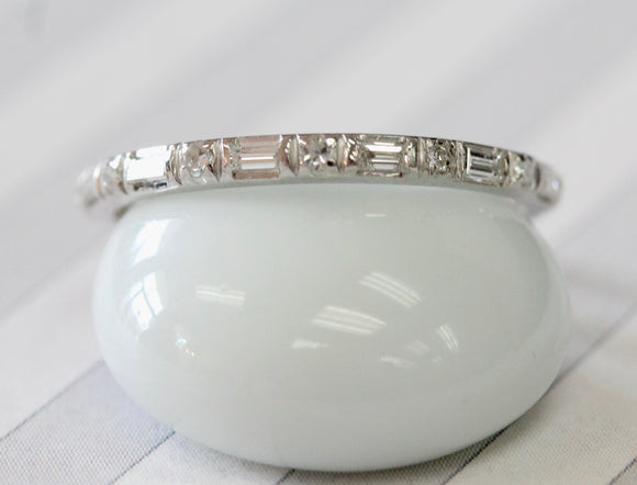Slender & Sparkly ~ Diamond Eternity Wedding Band