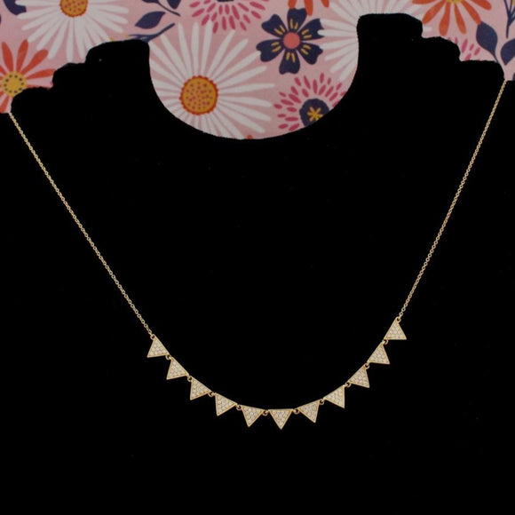 Contemporary Pave Diamond Necklace