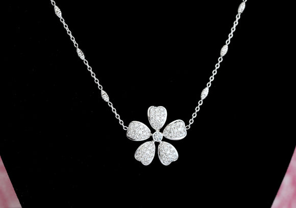 Diamond Flower Necklace ~ WOW