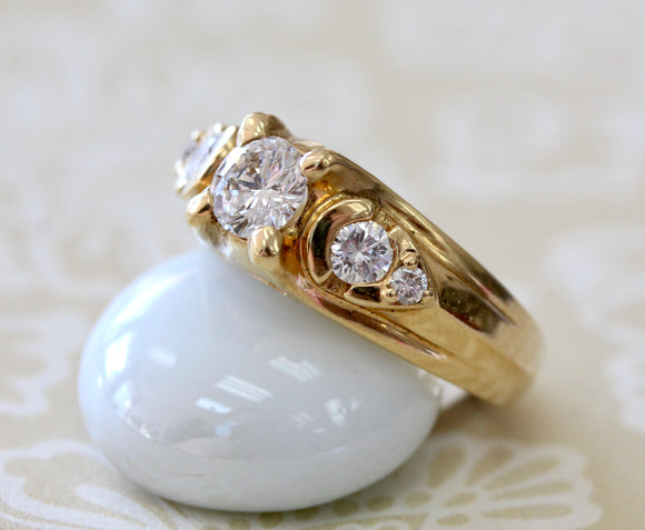 Estate .60 Carat Diamond Center Engagement Ring