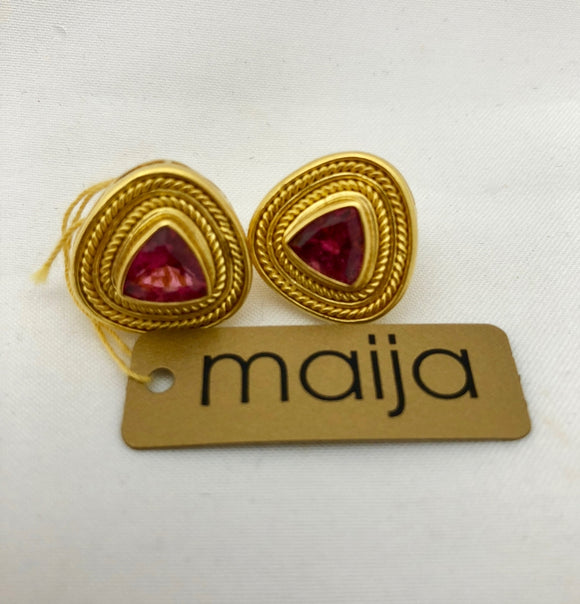 Maija Designer Pink Tourmaline Earrings