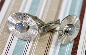Handsome ~ MEN'S Cufflinks with Star Sapphires