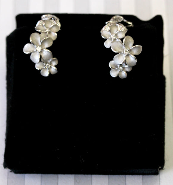 Contemporary ~ Diamond Floral Motif Earrings