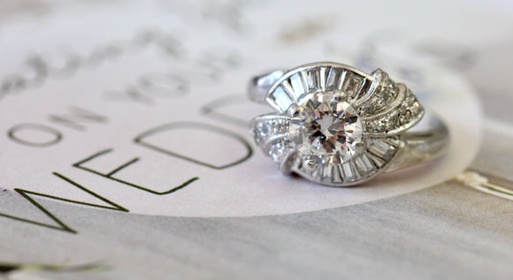 Stunning ~ Vintage Diamond Engagement Ring