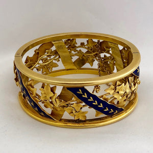 Antique Enamel Bangle
