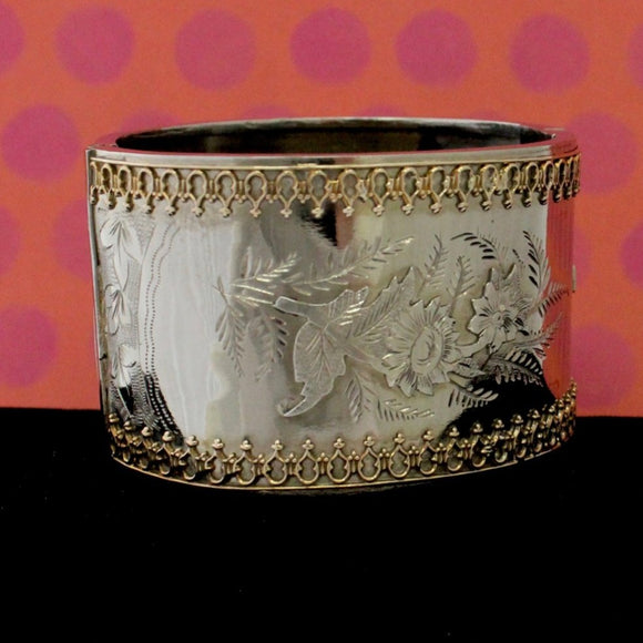 VINTAGE ~ Funky Sterling Bangle Bracelet