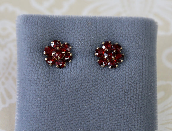 Lovable ~ Garnet Stud Earrings