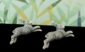 CHARMING ~ Pair of Rabbit Pins / Pendent - Two fun ways to wear them