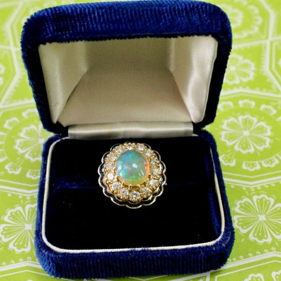 GORGEOUS ~ Opal & Diamond Ring