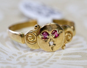 Whimsical ~ Moon Face ring