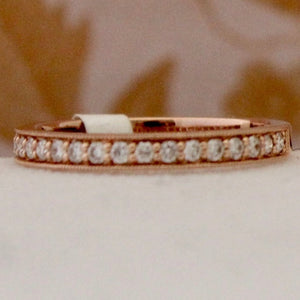 Romantic Rose Gold Band