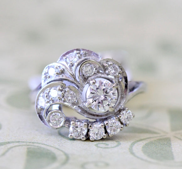 Retro Inspired Diamond Ring ~ WOW