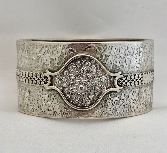 Engraved Sterling Silver Bangle