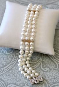 Cultured Pearl Bracelet with Diamond accents