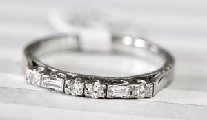 "Designer ""Tacori"" Diamond Band ~ Sleek"