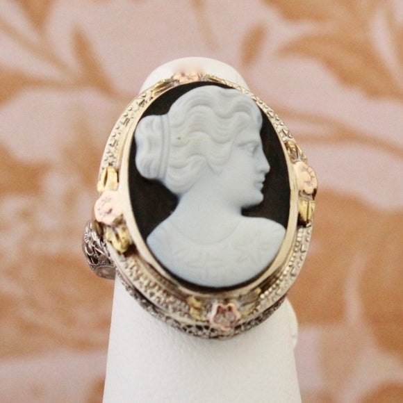 Timeless  Stone Cameo Ring