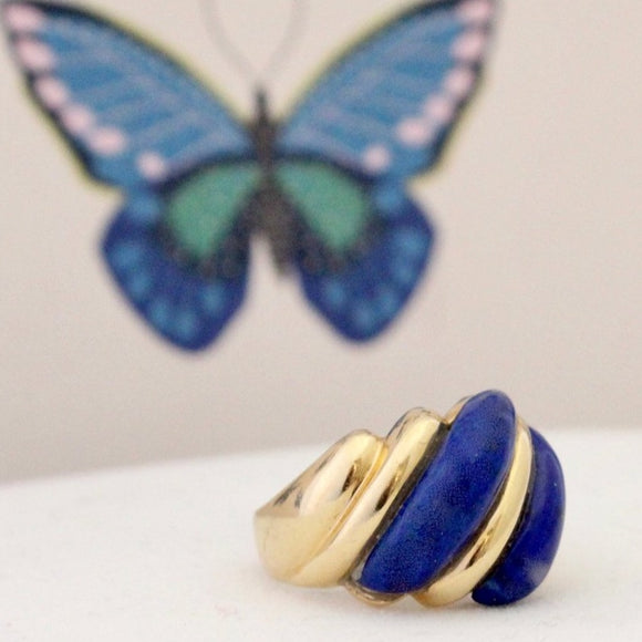 Colorful & Bold Lapis ring