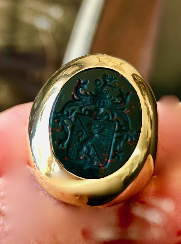 Bloodstone Seal Ring