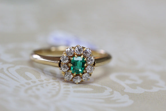 Antique Emerald & Diamond Ring ~ Precious