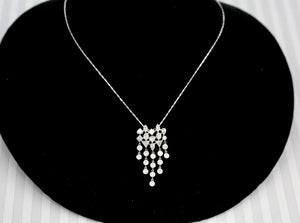 Flirty, Fancy & Fun ~ Contemporary Bezel set Diamond Necklace