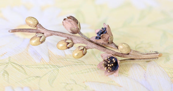 Classy ~ Textured Flower Stem Pin