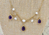Victorian ~ Amethyst & Pearl Necklace