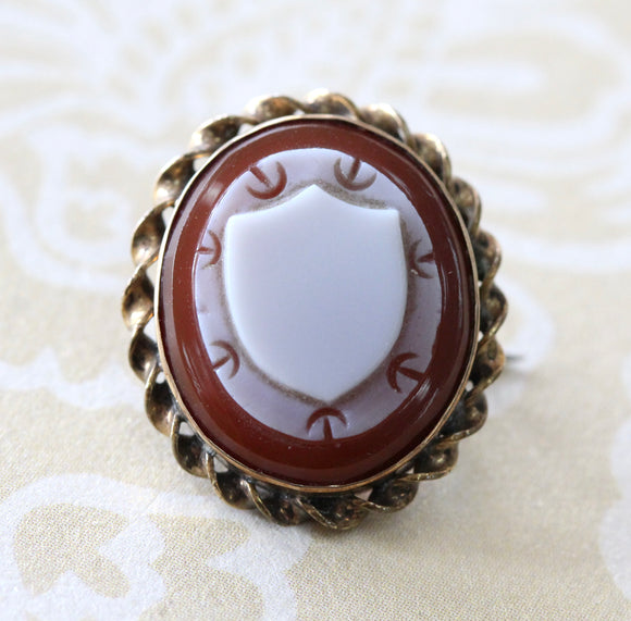 Antique ~ Gold Filled Cameo Pin