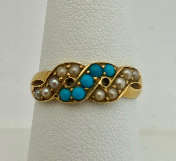 Pearl and Turquoise Swirl Band