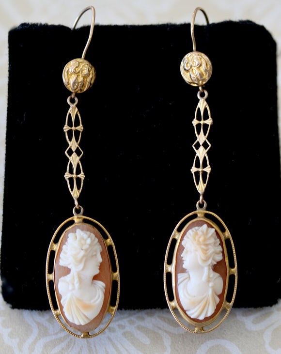 Vintage ~ Cameo Drop Earrings