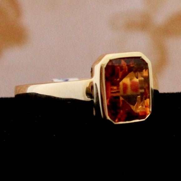 Fun & Contemporary Bezel Set Citrine Ring