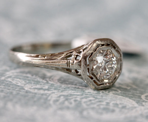 Vintage ~ Diamond Ring in both Platinum & White Gold