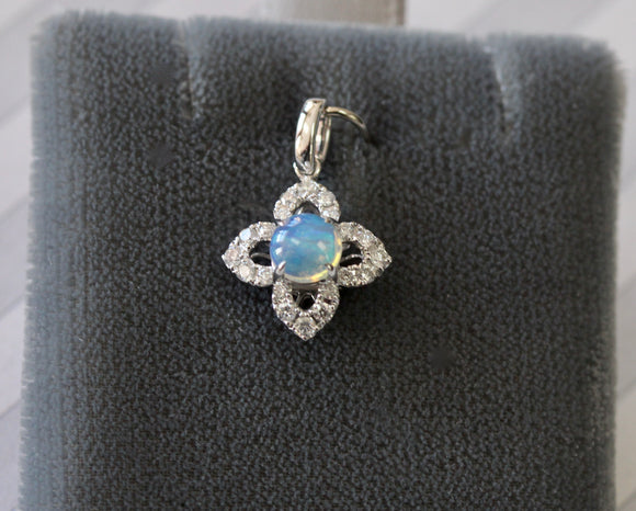Sweet ~ Opal & Diamond Pendant