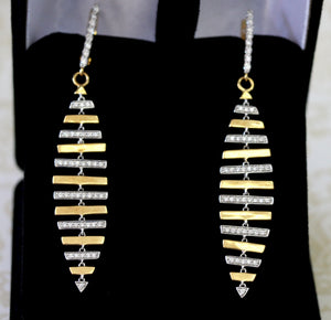 Dazzling ~ Two Tone Diamond Earrings