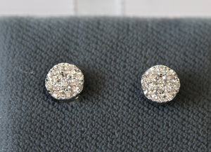 Lovable ~ Diamond Cluster Stud Earrings