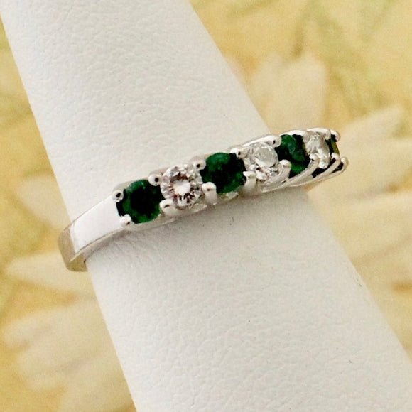 Sparkling Emerald & Diamond Band