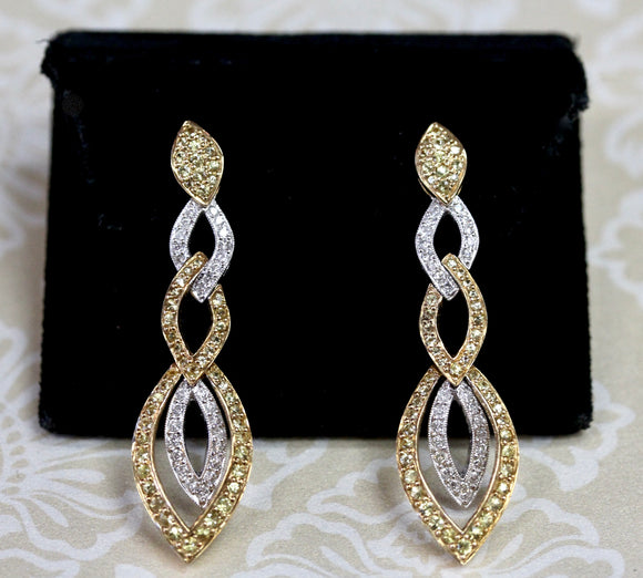 Fabulous & Fancy ~ Diamond Drop Earrings